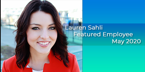 Lauren Sahli, Gilson Daub Featured Employee, May 2020