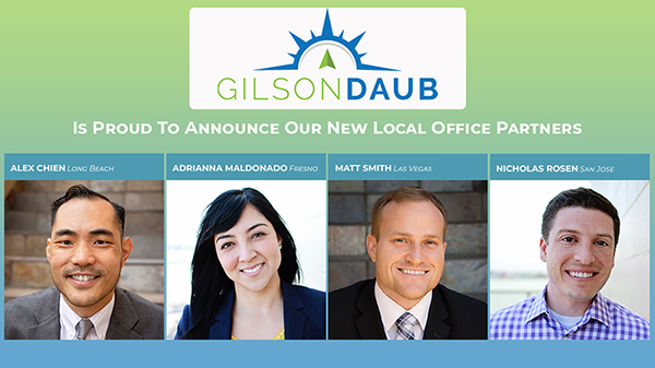 ANNOUNCING FOUR NEW PARTNERS AT GILSON DAUB